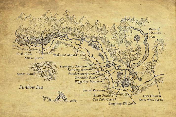 The Sisterhood Of The Black Dragonfly - Map
