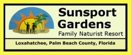 Sunsport Gardens Family Naturist Resort, Palm Beach County, Florida, Blind Creek Beach, nude beach, naturist beach, free beach, clothing optional beach, naturism, nudism, nudist, nudie, Treasure Coast Naturists, Hutchinson Island, Fort Pierce, Ft Pierce, St Lucie County