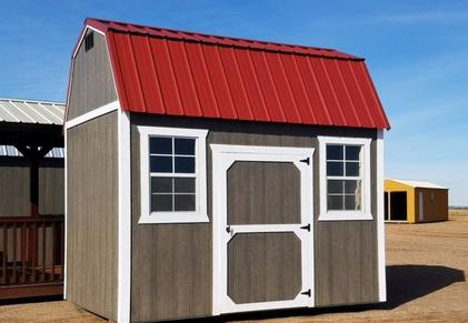 Weather King Sheds come in various sizes and customizable door and window placement.