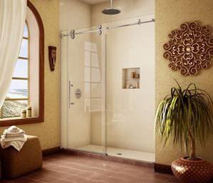 barn door style shower