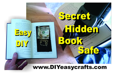 DIY Secret Hidden Book Safe. www.DIYeasycrafts.com