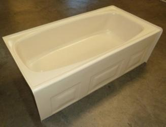 54x27 Back Drain Abs Tub Available In White Or Bone P5427b