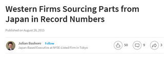 Western Firms Sourcing Parts from Japan in Record Numbers