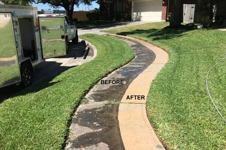 walks we pressure washed in Houston Texas