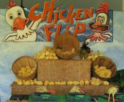Colorful Chicken Flip Carnival Game for Company Picnics and Festivals