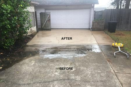 driveway pressure wash in Houston Texas