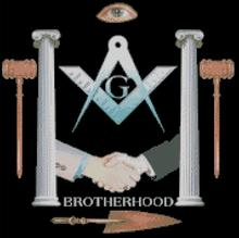 Cross Stitch Chart Pattern of Freemasons Brotherhood