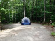 picture of tent on site