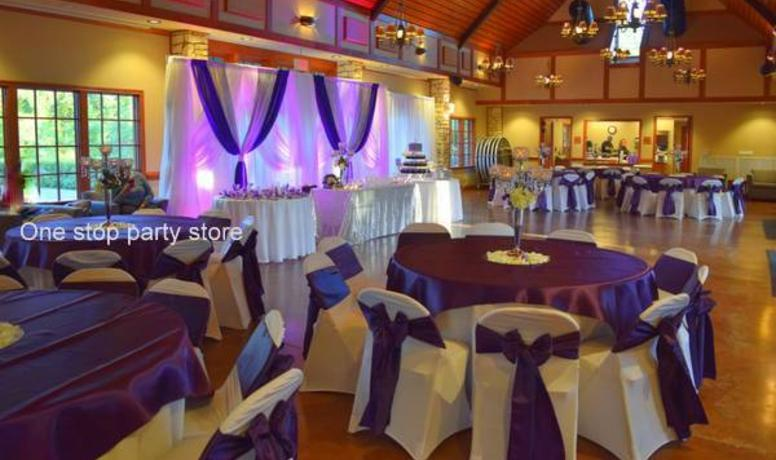 Wedding backdrop Purple and Silver