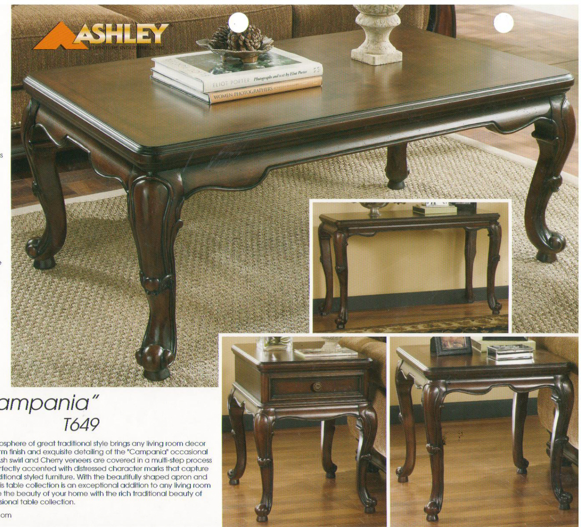 ashley coffee table end table