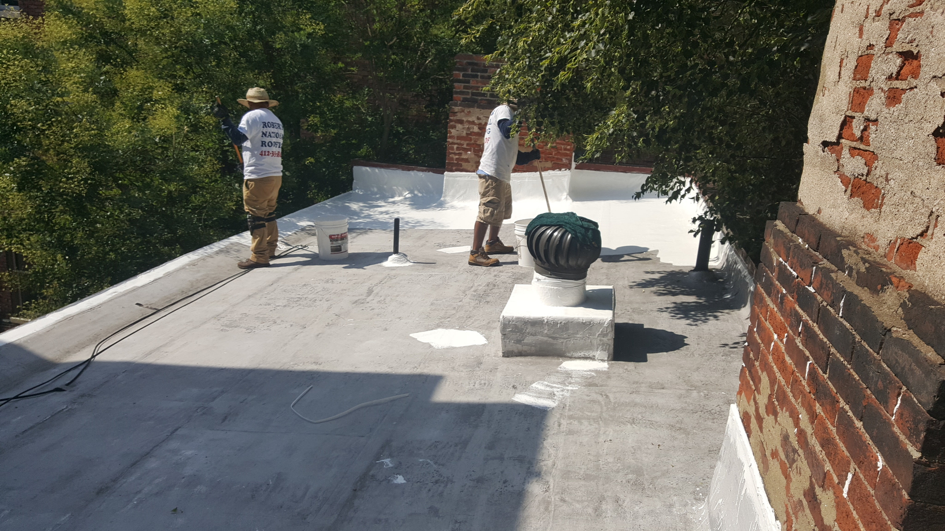 Slate Tile Flat Roof Repair Roberts Roofing Co