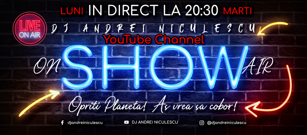 vlog, dj andrei niculescu, broadcast show, on air radio station, opriti planeta, emisiune online, show online, good vibes, positive vibes, music, dj mix, live mixing, interview, interviu, radio, dj romania, dj gig, voiceover, djing, voice over, voice radio, dj set