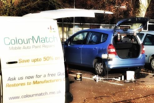 Colourmatch mobile auto paint repairs home for Mobile auto painting