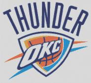 OKC Thunder Cross Stitch Chart Pattern