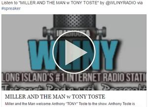 Miller and the Man Radio Show with Tony Toste