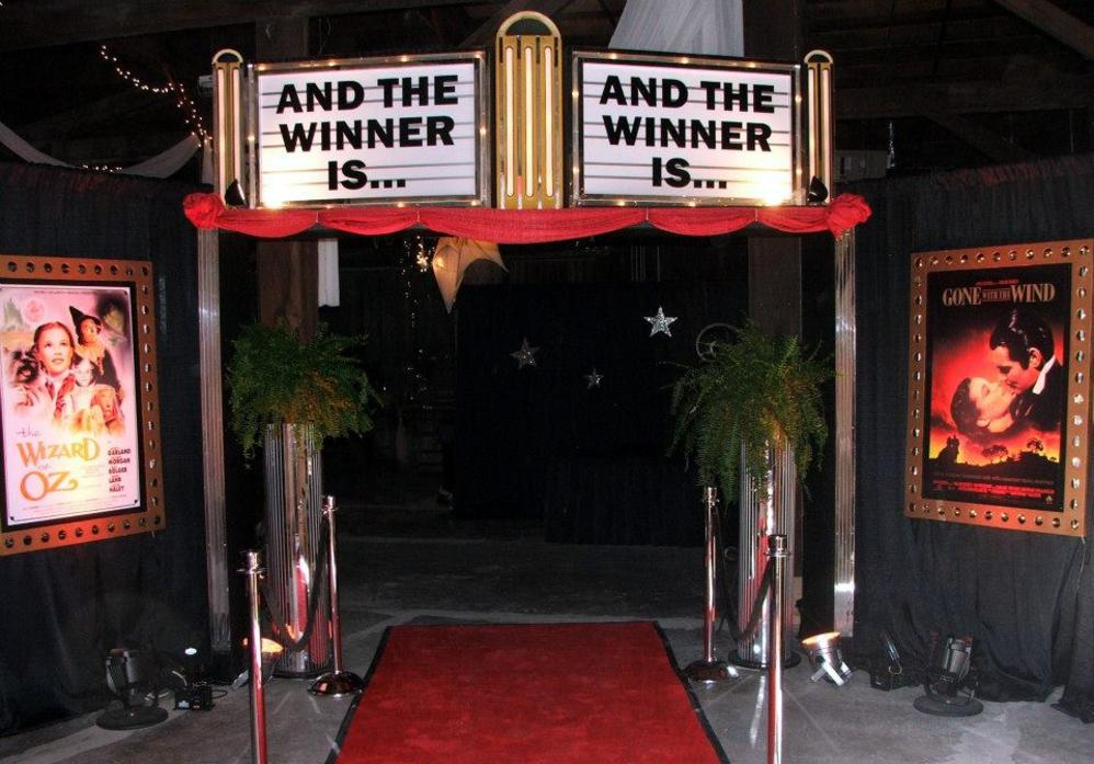 Hollywood Themed Event Entrance Decor-Awards Ceremony, Corporate/Company Event