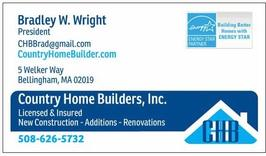 About Us ... Country Home Builders, Inc.