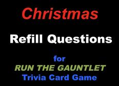 Christmas Trivia Cards for RUN THE GAUNTLET game