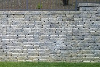 Small Concrete Landscape Block Retaining Wall