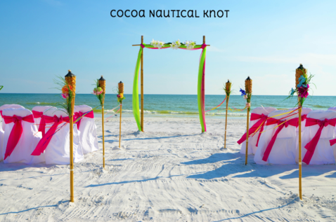 Decorated Florida Beach Wedding in Port Canaveral
