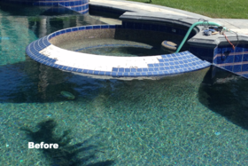 Pool Tile Repair San Bernardino Before