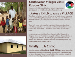 South Sudan Africa Medical Clinic Fundraiser Flier