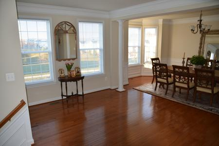hardwood floor living room