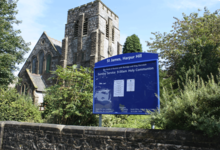 complementary aluminium church poster cases