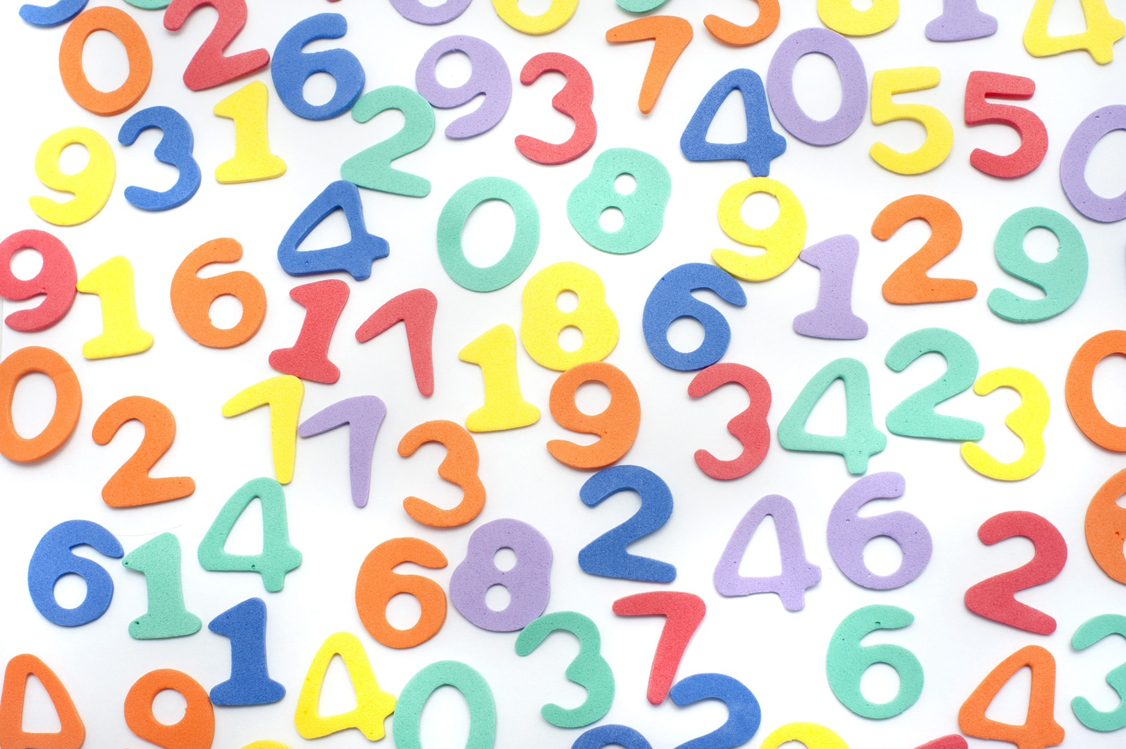 a mix of numbers