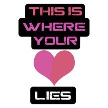 This Is Where Your Heart Lies Custom Sticker