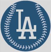 Cross Stitch Chart pattern of the Los Angeles Dodgers