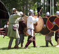 Vikings battle demonstration at Sunset Villa