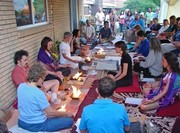 Outdoor event, Healing fire ceremony, meditation, with Ellie Hadsall. Yagnya, agnihotra, homa, havan
