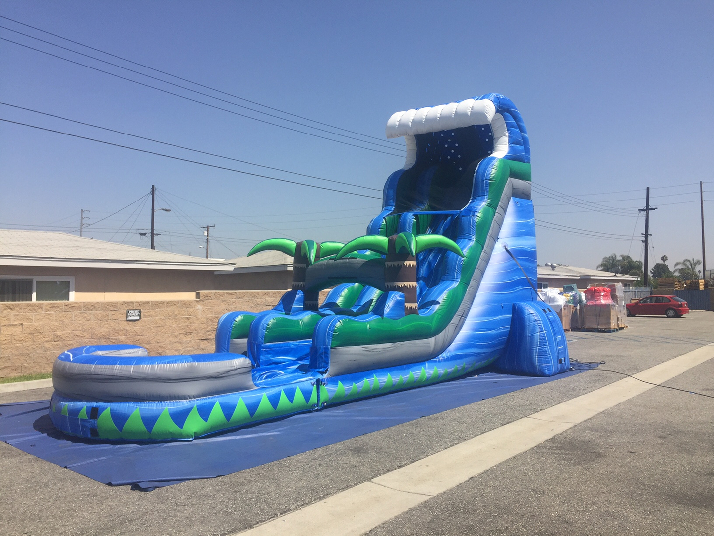 party rentals water slides for rent las vegas disco party