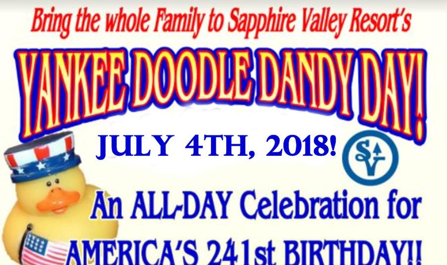 Yankee Doodle Dandy Day, Sapphire Valley Resort
