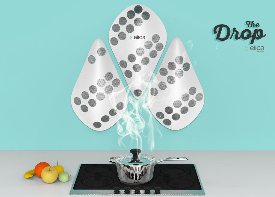 THE DROP HOOD CONTEST FOR ELICA CAPPA DA CUCINA DESIGN PROJECT DESIGN107