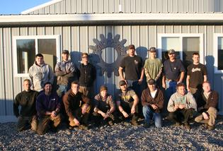 Team Photo taken at our Montana location