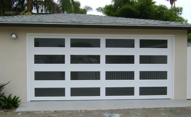 Modern White Garage Door modern glass garage doors - #1 supplier of glass garage doors