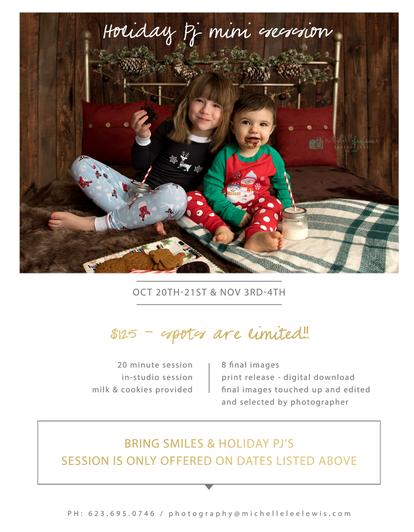 holiday mini session, family photos, surprise az