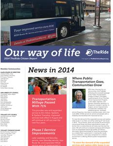 TheRide Citizen Report Fiscal Year 2014
