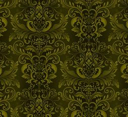 Green Damask Welcome Harvest