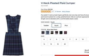 plaid V-neck Jumper