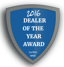 SunOff Blinds Las Vegas 2016 Dealer of the Year Award