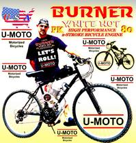 DO IT YOURSELF MOTORIZED BIKE KIT AND MULTISPEED MOUNTAIN BIKE SYSTEM U-MOTO