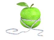 apple with tape measure around it