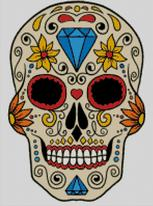 Cross Stitch Chart of Sugar Skull No 36