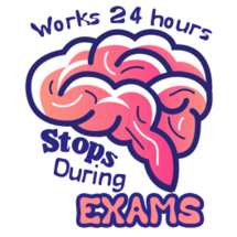 Brain Stops During Exams Sticker