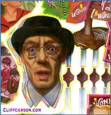 Mr. Slugworth (Gunter Meisner) Willy Wonka and the Chocolate Factory. Illustration by Cliff Carson