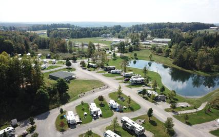 Sparrow Pond Campground Aerial View