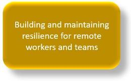 Resilience for remote working